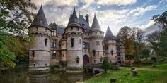"""Live like a French noble in the Château de Vigny, which was just listed for $5.69 million. According to Curbed, the château was built in 1504 for a French cardinal and is located 30 miles outside of Paris. The estate features a moat, a greenhouse, a professional kitchen, and two pastry and baking """"laboratories."""" With all the gorgeous details such as carvings, stone walls, and chandeliers, you'll feel like you've stepped into another time period in this home.   Chateau de Vigny For Sale"""