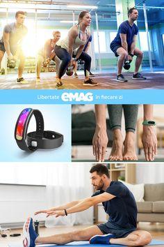 Comandă o brățară fitness pentru cei dragi și ajută-i să monitorizeze fiecare pas, kilometru și record doborât! Gym Equipment, Health Fitness, Sports, Hs Sports, Workout Equipment, Sport, Fitness, Health And Fitness