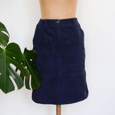 529ec2840 Vintage Navy Blue Skirt, Size 10 Corduroy St Michael Skirt by  LittleYellowTable on Etsy