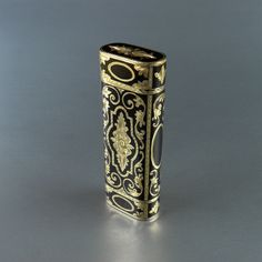 beautiful lighters | Beautiful Cartier lighter, solid 18k gold, black lacquer, hand carved ...