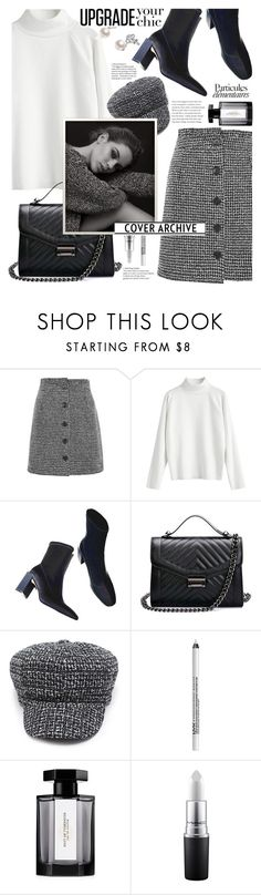 """Tweed style and chic tile,its fashion time!"" by jelena-bozovic-1 ❤ liked on Polyvore featuring Topshop, NYX and L'Artisan Parfumeur"