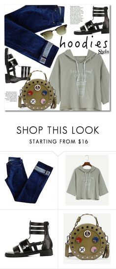 """""""Untitled #1581"""" by svijetlana ❤ liked on Polyvore featuring A.P.C. and Ray-Ban"""
