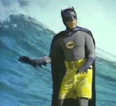 Surfing Batman ...Adam West style. Click on the image to see the entire animated gif.