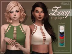 Zoey Crop Top at Trillyke via Sims 4 Updates