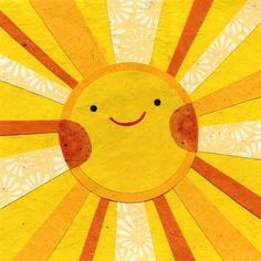 Sunny Sun. via Etsy. By Kate Endle Collage