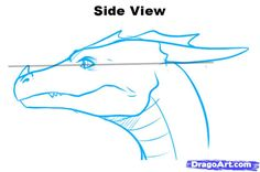 dragon faceing sideways