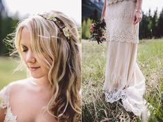 Canadian Mountain Wedding - Our real bride Amanda in Claire Pettibone