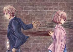 Anime Wallpaper of Kanbara Akihito and Kuriyama Mirai from Beyond the Boundary/Kyoukai no Kanata
