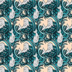 Yesterday I taught myself how to make a repeating pattern out of one of my doodles. I can't wait to make more! Whale Pattern, I Cant Wait, My Doodle, Repeating Patterns, Illustration Art, Doodles, Graphic Design, Teaching, Canning