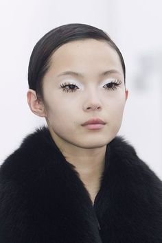 Spider eyelashes at Maxime Simoens Paris Fashion Week