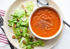 Butternut Squash and Tomato Soup &  Escarole Salad