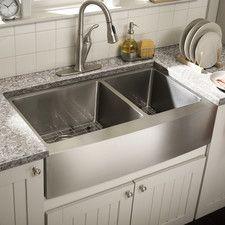 farmhouse 36 x 2125 undermount double bowl kitchen sink - Kitchen Basin Sinks