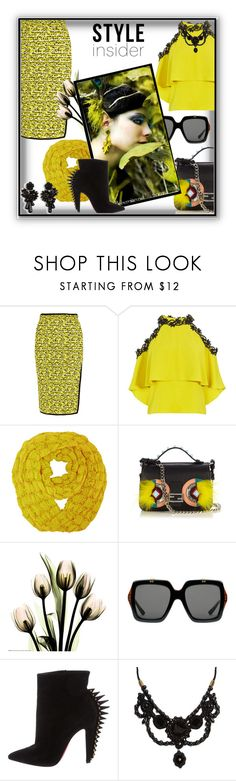 """""""Style insider"""" by barones-tania ❤ liked on Polyvore featuring rag & bone, Fendi, Gucci, Christian Louboutin and Ann Taylor"""