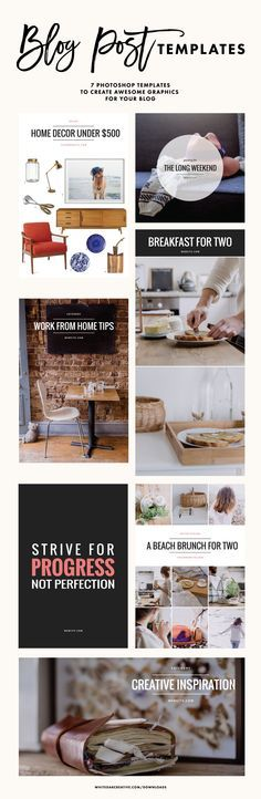 Photoshop blog post templates to give your blog design a beautiful and chic look, blog design, blog post design