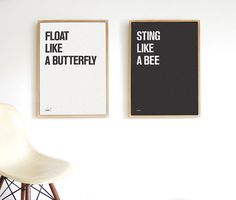 Muhammad Ali Float Like Butterfly Sting Like Bee Typography Danish Modern Eames Poster Print Obey Gi Scandinavian Modern, Danish Modern, Float Like A Butterfly, Ali Quotes, Meeting New Friends, Beautiful Posters, Muhammad Ali, Typography Prints, Poster Prints