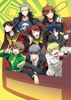 "Persona 4 cast, love every single one of them... ""Anyone can do it. As long as they open their eyes and look around, they'll see it. They'll see the truth!"" - Yu"