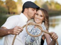 "We love this cheeky wedding announcement idea of a couple ""tying the knot."" #countrywedding http://www.gactv.com/gac/photos/article/0,3524,GAC_42725_6075192_01,00.html?soc=pinterest"
