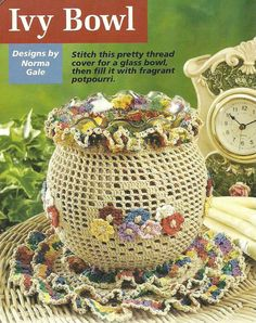Ivy Decorative Bowl & Doily Set crochet PATTERN INSTRUCTIONS