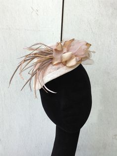 Fascinator Headpiece  Hat Sinamay Light by LaHatterieMillinery, $159.00