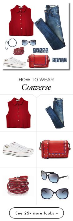 """""""Untitled #867"""" by gallant81 on Polyvore featuring Chicnova Fashion, Converse, Marc Jacobs, Tory Burch and Sif Jakobs Jewellery"""