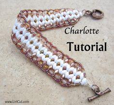 Charlotte Twin Superduo Beadwork Bracelet PDF by Lirigal