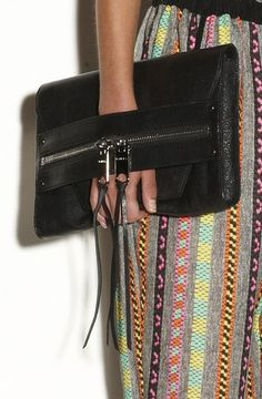 And what a clutch! Gorgeous leather, interesting design   Milly Resort 2014Photo courtesy of Milly
