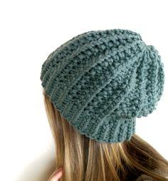 hand knit ski hat in merino wool