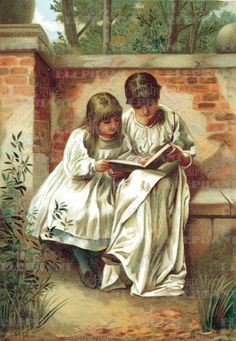 Sisters Reading.
