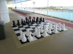 Check out the giant chess game on board!  AffordableTours.com Travel Blog » Island Hopping with Norwegian Cruise Line
