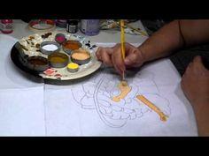 Pintura em tecido - Boneca Patrícia - Como pintar boneca negra 1-2 - how to paint black doll - YouTube
