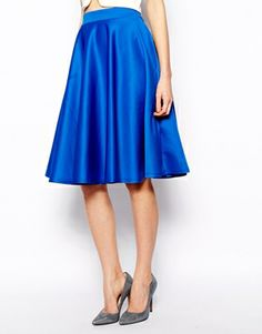 Cobalt scuba skirt; I've recently purchased this one. Check 'my outfits' to see how I styled it.