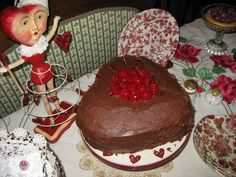 Bernideen's Tea Time, Cottage and Garden: CHOCOLATE FOR A WHIMSICAL VALENTINES TEA PARTY