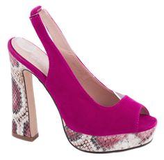 Sandale platforma - Sandale fucsia cu platforma MG118-3F - Zibra Heels, Fashion, Heel, Moda, Fashion Styles, Shoes Heels, Fashion Illustrations, High Heel, High Heels