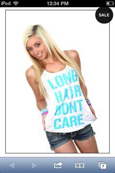 Lhdc tank top! So cute #lhdc #longhairdont care