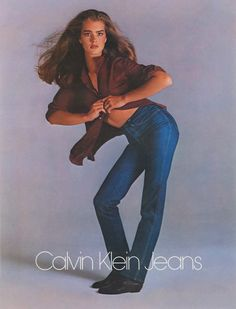 Brooke Shields - Calvin Klein Jeans - from the '80s #InStyle