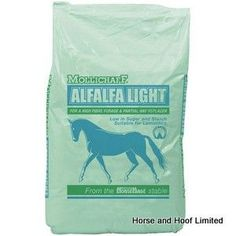 Mollichaff Alfalfa Light 15kg Mollichaff Alfalfa Light is a mix of pure alfalfa sources of highly digestible fibre to provide horses with a high  fibre, low sugar diet which is suitable for laminitics still needing condition.