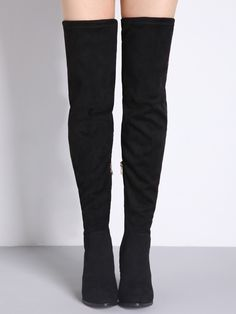 Black+Lace+Up+Over+The+Knee+High+Heeled+Boots+58.16