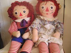 Raggedy Ann and Andy Dolls (Knickerbocker Toys)