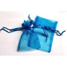 30 Dark Turquoise Wedding Organza Favor Gift Bags 4x6 inch