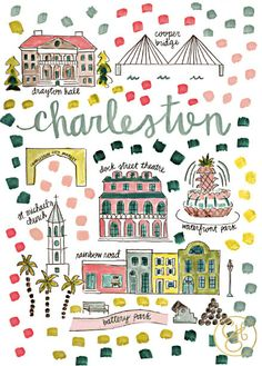 Charleston Map Print by EvelynHenson on Etsy