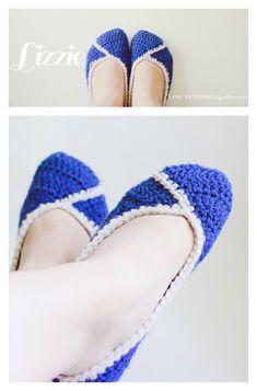 Crochet Lizzie Slippers Free Pattern