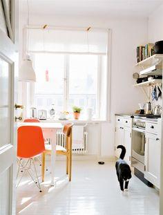 Kitchen, with a dash of orange.