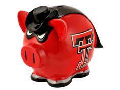 #TTAA #SupportTradition #TexasTech  Texas Tech Red Raiders Piggy Bank NCAA
