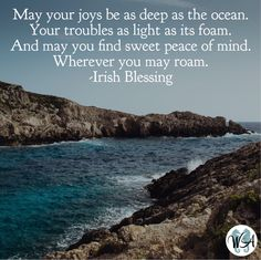 So appropriate for St. Patrick's Day...an Irish blessing!
