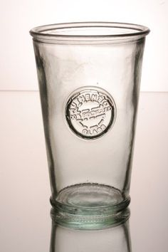 """Set of three 100% recycled glass 300ml tumbler with """"Authentic"""" stamp in relief The recycled glassware co http://www.amazon.co.uk/dp/B00CZABOJO/ref=cm_sw_r_pi_dp_SCYAvb06MKY76"""