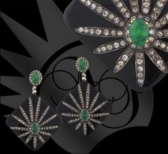 Attention Jewelry Addicts - these Angelique de Paris EMERALD earrings are AMAZING