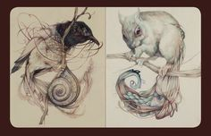 Marco Mazzoni, Sketchbook. Makes me want to just quite drawing.