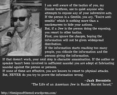 Zionist Tactics ... PLEASE READ THIS ... It is SOOOOOO TRUE ... kd