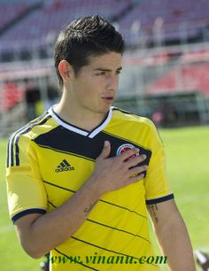 James Rodriguez...I was so sad to see him cried today after Colombia was eliminated. Sad for Colombia.