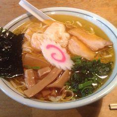 えびワンタン麺。いいね! 函館ラーメン 船見坂 銀座店